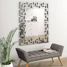 rectangle modern wall mirror all home