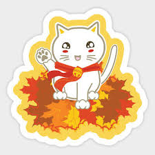 Lucky Cat Kitten Neko Japanese Asian Fall Vinyl Decal Sticker Laptop Car Bumper 4 99 Picclick