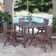 slate 5 piece square table dining set