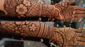 bridal mehndi designs front and back