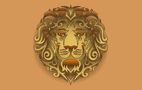 wallpaper leo head tribal lion head