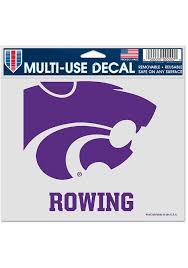 K State Wildcats Rowing 5x6 Inch Multi Use Auto Decal Purple 5717080