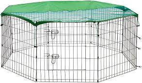 Outdoor Pens Pet Supplies Available In 5 Sizes With Or Without Roof Alphapet 8 Panel Pet Run For Dog Puppy Rabbit Guinea Pig Chickens Playpen Animal Enclosure Fence Small With Cover