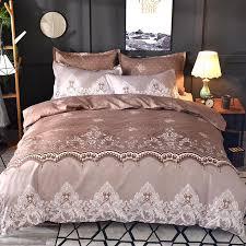 lace pattern bedding set duvet cover