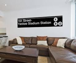 Vinyl Wall Decal Sticker Yankee Stadium Subway Sign 1284 Stickerbrand