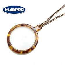 round magnifying lens pendant necklace