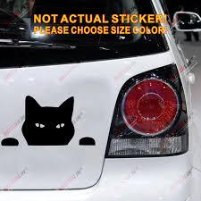Black Cat Cute Funny Car Trunk Decal Sticker Vinyl Die Cut Pick Size No Background Cartoon Cute Sticker Vinyl Funny Cardecal Sticker Aliexpress
