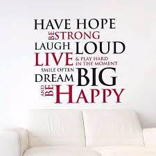 cr have hope wall quotes by home decor line