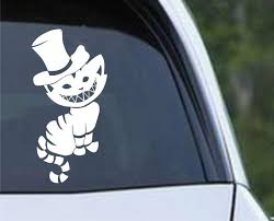 Alice In Wonderland Cheshire Cat 02 Die Cut Vinyl Decal Sticker Decals City