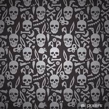skull wallpaper wall mural pixers