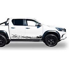 Amazon Com Bubbles Designs Lower Mud Splash Decal Sticker Vinyl Kit Compatible With Toyota Hilux 2015 Present Automotive
