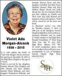 Violet Morgan-Alcock | Obituary | High River Times