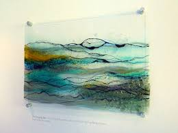 fused glass wall art hanging google