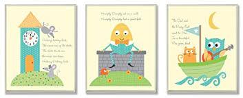 The Kids Room By Stupell Classic Nursery Rhyme 3 Pc Rectangle Wall Plaque Set Yakov Masozi Dsat