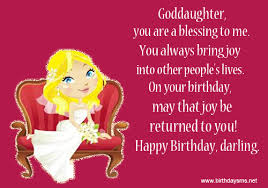 birthday quotes for goddaughter quotesgram