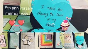 5th love anniversary sbook diy