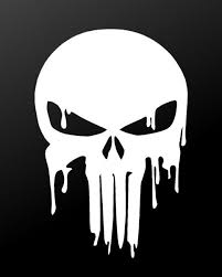 Dripping Melting Bloody Punisher Skull Vinyl Decal Car Window Laptop S Kandy Vinyl Shop