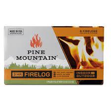 Pine Mountain Traditional 3 Hour Firelogs Easy Starter Logs 10 5 X 3 6 Pack Long Burning Firelog For Fireplace Campfire Fire Pit Indoor Outdoor Use Walmart Com Walmart Com