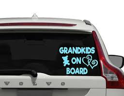Grandkids On Board Grandbaby On Board Baby On Board Car Etsy Great Gifts For Mom Car Car Decals