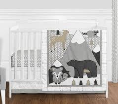 white boho mountain animal gray