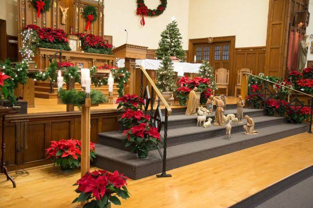 """Image result for picture of a church decorated for christmas"""""""