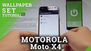 change wallpaper on motorola moto x4