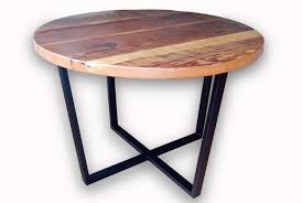 reclaimed timber round dining table