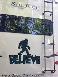 Large Vinyl Monogram Bigfoot Believe Decal Bigfoot Sticker Family Name Custom Rv Decal Camping Decal Truck Window Sticker