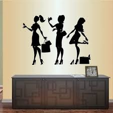 Amazon Com In Style Decals Wall Vinyl Decal Home Decor Art Sticker Fashion Girls Women Teens With Bags Shopping Fashion Shop Room Removable Stylish Mural Unique Design 631 Home Kitchen