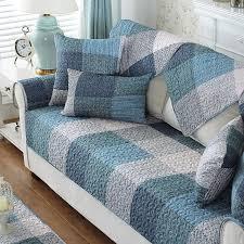 simple design plaid sofa cover cotton