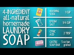 borax free homemade laundry detergent