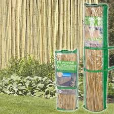 Bamboo Reed Slat Screening Garden Privacy Fencing Outside Panel Rolls 2 Sizes Sfhs Org