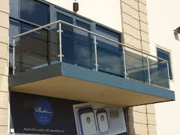 balcony design glass railing barade