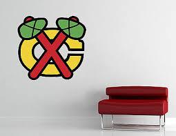 Chicago Blackhawks Logo Nhl Wall Decal Hockey Vinyl Sticker Decor Extra Large 19 95 Picclick