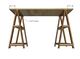sawhorse desk diy desk diy furniture