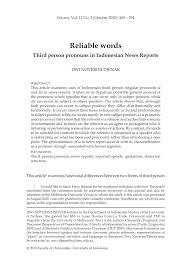 pdf reliable words third person pronouns in n news reports