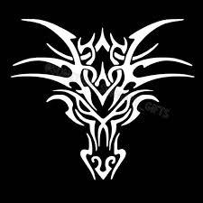 Dragon Head Vinyl Decal Car Window Decal Laptop Decal Etsy In 2020 Dragon Face Dragon Head Tattoo Tribal Dragon Tattoo