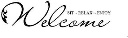 com yingkai welcome sit relax enjoy removable vinyl