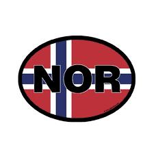 Nor Norway Vinyl Car Decal Scandinavian North
