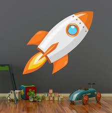 Rocket Ship Wall Art Decal Space Kids Bedroom Vinyl Wall Decor Etsy