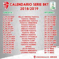 Calcio Padova - ✓ #SaveTheDate Calendario completo del...