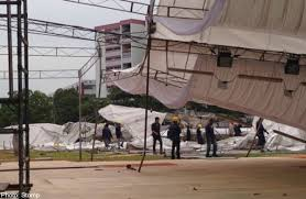 pasar malam tent brought down by storm