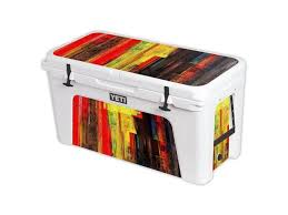Skin Decal Wrap For Yeti Tundra 125 Qt Cooler Cover Sticker Painted Wood Newegg Com