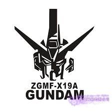 Pegatina Gundam Sticker Anime Cartoon Car Decal Sticker Zgmf X 19a Vinyl Wall Stickers Decor Home Decoration Wall Stickers Aliexpress