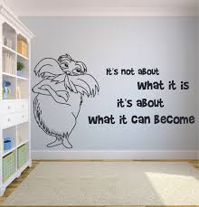 Unless Dr Seuss Inspired Quote Vinyl Wall Decal Yellow By Gmddecals Lorax For Sale Online Ebay