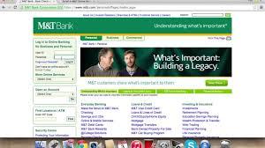 m t bank banking login