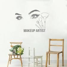Beauty Salon Tools Make Up Wall Decal Vinyl Large Eye Wall Sticker Bea Home Decor