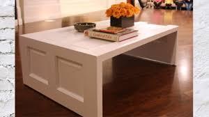 diy coffee table made of a door