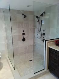right angle custom glass shower doors