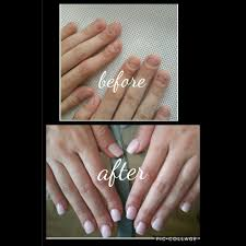 sculpted gel nails for a serious nail